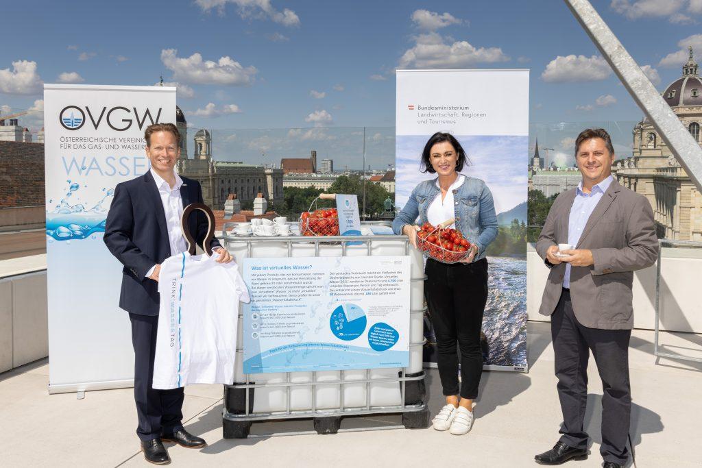 """Neue Studie """"Virtuelles Wasser 2021"""" zeigt: Eine Person in Österreich verbraucht täglich rund 4.700 Liter Wasser"""